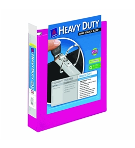 Avery Heavy-Duty View Binder with 1.5-Inch One Touch EZD Rings, Pink, 1 Binder (79721)