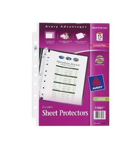 Avery Heavyweight Sheet Protectors, 5.5 x 8.5 Inches, Pack of 15 (77007)