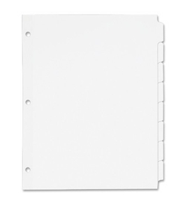 Avery Plain Tab Write-On Dividers, 8-Tab, 24 Sets (11507)