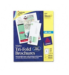 Avery Products - Avery - Brochure Paper, Matte, 8-1/2 x 11, White, 100 Sheets/Box - Sold As 1 Box