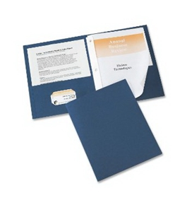 Avery Two-Pocket Report Covers, 11 inch x 8.5 inch, Dark Blue, 25 per box (47975)
