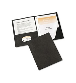 Avery Two-Pocket Report Covers with Tang Fasteners, 11 x 8.5 Inches, Black, Box of 25 (47978)