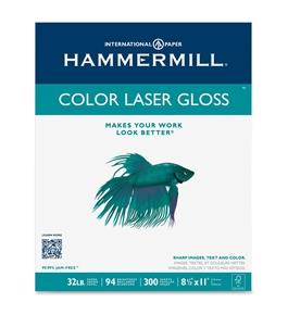 Hammermill Color Laser Gloss Paper, 94 Brightness, 32lb, Letter Size, 300 Sheets per Pack  - 16311-0