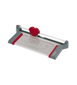 Premier/Martin Yale / Rotary Trimmer, Straight/Perforated Cut, W/1/2 Grid, Gray / PRE130RT