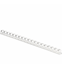 Fellowes Plastic Comb Binding Spines, 1/2 Inch Diameter, White, 90 Sheets, 100 Pack - 52372