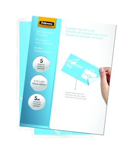 Fellowes Laminating Sheets, Self Adhesive, Luggage Tag Size, 5 Mil, 5 Pack - 5220301