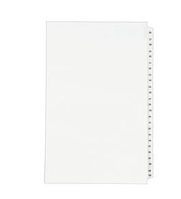 Avery Legal Dividers, Standard Collated Sets, Legal Size, Side Tabs, 26-50 Tab Set (01431)