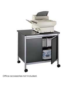 Safco Products Deluxe Machine Stand, Black/Silver, 1872BL