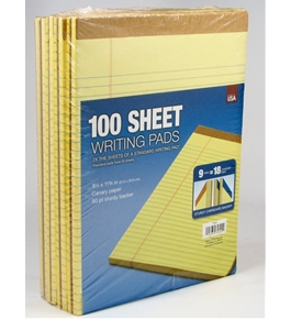 Tops 100-Sheet Legal Pads Canary Yellow pack of 9 pads