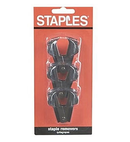 Staples Claw Staple Remover, 3/Pack