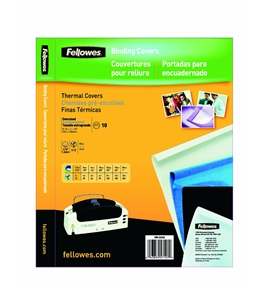 Fellowes Binding Thermal Presentation Covers - 1/16 Inch, Blue, 15 sheets - 5225201
