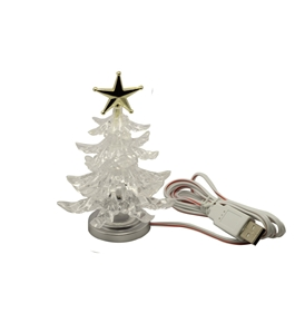 JUYO VONSAN USB Christmas Tree with Color Changing LEDs Desk Lamp Decoration