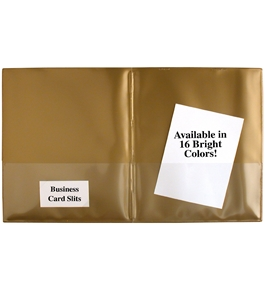 StoreSMART Gold Plastic Archival Folders 25-pack - Letter-Size Twin Pocket - R900GOLD25