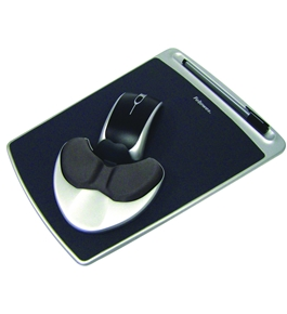 Fellowes Easy Glide Gel Mouse Pad/Wrist Rest 93730