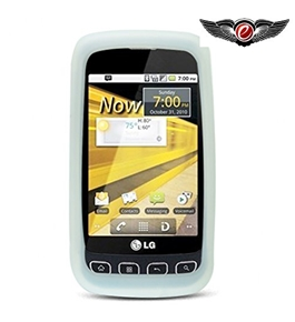 Eagle Cell SCLGLS670S11 Barely There Slim and Soft Skin Case for LG Optimus S/Optimus U/Optimus V LS670 - T-Clear