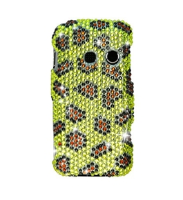Eagle Cell PDLGLN510F394 RingBling Brilliant Diamond Case for LG Rumor Touch/Banter Touch LN510 - Yellow Leopard Skin