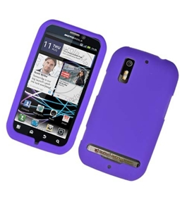 Eagle Cell SCMOTPHOTON4GS05 Barely There Slim and Soft Skin Case for Motorola Photon 4G/Electrify - Purple