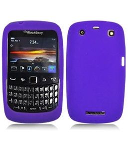 Aimo Wireless BB9370SK014 Soft n Snug Silicone Skin Case for BlackBerry Curve 9370 - Purple