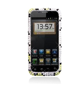 Aimo Wireless ZTEWARPPCDI182 Bling Brilliance Premium Grade Diamond Case for ZTE Warp N860 - Yellow/White Flowers