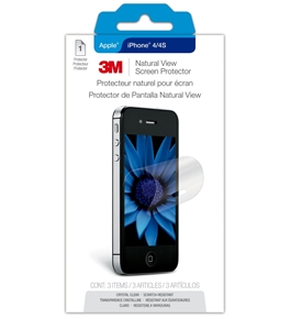 3M NVipPhone4/4S-1 Natural View Screen Protector for Apple iPhone 4 or 4S - Transparent