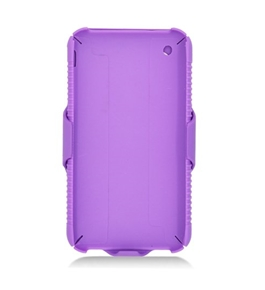 Eagle Cell POIPHONE3GRSTHL05 SkinnySuit Clipster Combo Case with Kick Stand and Holster Belt Clip for iPhone 3G - Purple