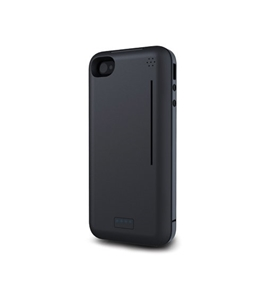 Kensington K39575US PowerGuard with BungeeAir Battery Case with Find-My-Phone FOB for iPhone 4/4S -Retail Packaging-Black