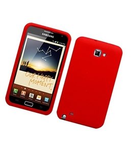 Eagle Cell SCSAMI717S03 Barely There Slim and Soft Skin Case for Samsung Galaxy Note i717 - Red