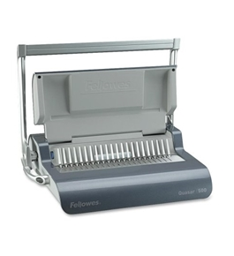 "Fellowes Quasar Comb Binding Machine - 500 Sheet(s) Bind - 20 Punch - 5.12"" x 18.12"" x 15.38"" - Gray"