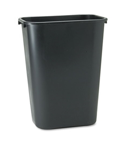 10.25 Gallon Wastebasket, Black