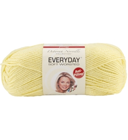 Everyday Anti-Pilling Soft Worsted Solids Yarn-Baby Yellow
