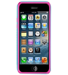 Body Glove 9312601 Tactic Case for Apple iPhone 5, Aqua/Pink