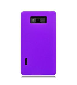 Eagle Cell SCLGUS730S05 Barely There Slim and Soft Skin Case for LG Splendor/Venice US730 - Purple