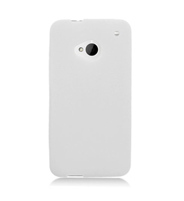 Eagle Cell SCHTCM7S10 Barely There Slim and Soft Skin Case for HTC One/M7 - White