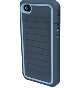 Body Glove ShockSuit Rugged Case for iPhone 4/4S - Retail Packaging - Midnight/Powder Blue