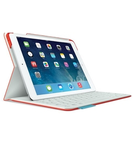 Logitech Fabric Skin Keyboard Folio for iPad Air, Mars Red Orange