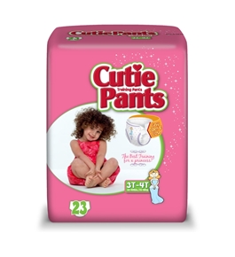 Cuties Training Pants, Girl, 92 Count - Pack of 4