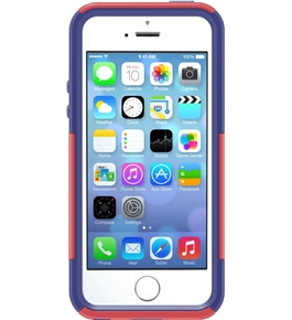 OtterBox [Commuter Series] Apple iPhone 5S Case - Protective Case for iPhone - Berry (Raspberry Pink /Sienna Blue)