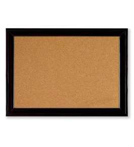 Quartet Home Decor Natural Cork Bulletin Board, 17 x 23 Inches, Ebony Frame  - 79281