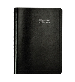 Brownline Daily Academic Planner, August 2014 - July 2015, Twin-Wire, Black 8 x 5 inches 1 Planner - CA201.BLK-15