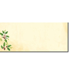 Falling Holly No.10 Envelopes - 40 Envelopes
