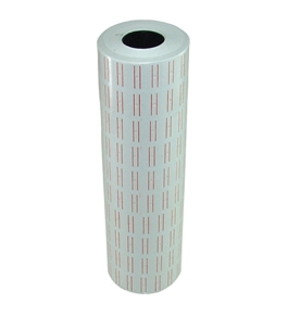 10 Rolls 10000 Pieces of Double Red Line Price Label Paper for Mx-5500 Price Gun Labeller