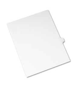 Allstate-Style Legal Side Tab Divider, Title: Q, Letter, White, 25/Pack - AVE82179