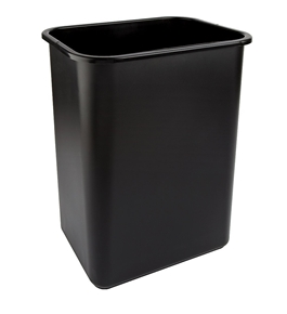 Office Depot Brand Wastebasket 10 25 Gallons 20, Black