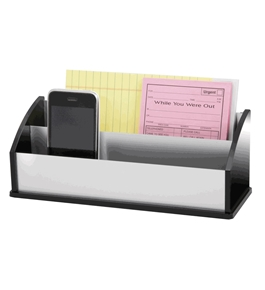 Kantek BA-350 Letter and Message Sorter, Black Acrylic and Aluminum