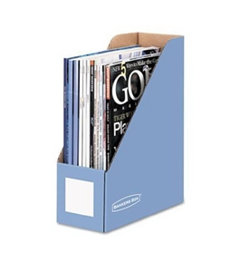Bankers Box Decorative Magazine Files, Cornflower Blue, Letter 6 Pack (6110101)