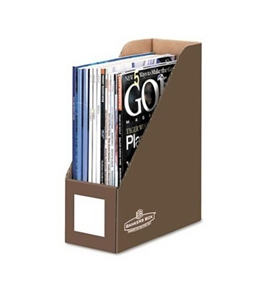 Bankers Box Decorative Magazine Files, Letter, Mocha Brown, 6 Pack (6130101)