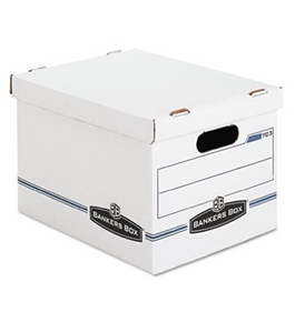 Bankers Box Stor/File Storage Box with Lift-Off Lid, Letter/Legal, 12 x 10 x 15 Inches, White, 4 Pack