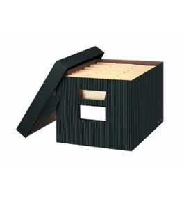 Bankers Box Store/file Decorative Storage Boxes, Letter/legal, 10 x 12 x 15 Inches, Pinstripe, 4 Pack (0029803)