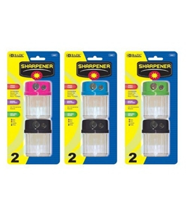 BAZIC Dual Blades Sharpener w/ Round Receptacle 2 Per Pack