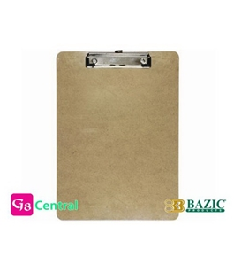 BAZIC Hardboard Clipboard with Low Profile Clip, Standard Size (PACK 24)